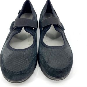 HOTTER Aura STD Mary Jane comfort shoes 8.5 blk.